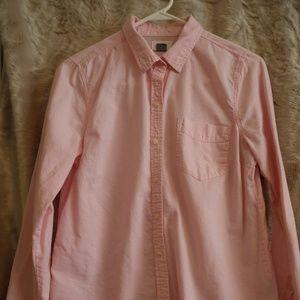 Light pink chambray button up shirt